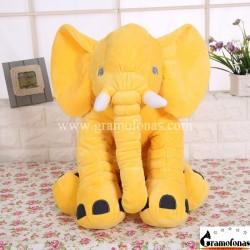 Pliušinis geltonas dramblys 60 cm