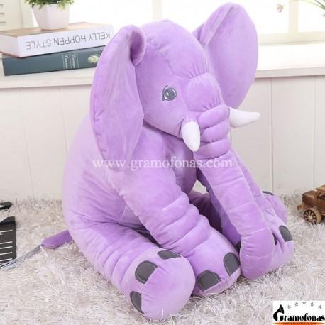 Pliušinis violetinis dramblys 60 cm