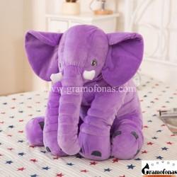Pliušinis violetinis drambliukas 40 cm