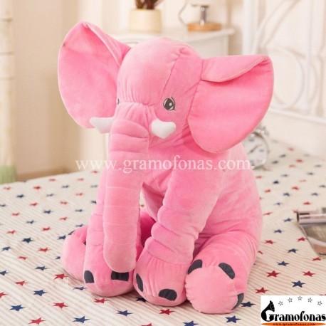 Pliušinis rožinis drambliukas 40 cm
