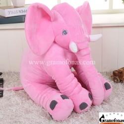 Pliušinis rožinis dramblys 60 cm