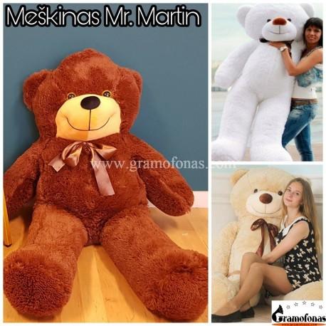 Tamsiai rudas 140 cm meškinas Mr. Martin