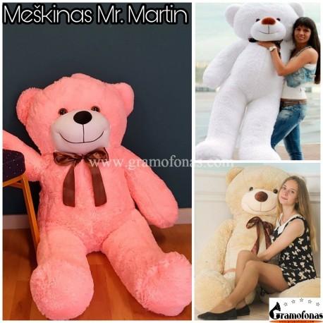 Rožinis 140 cm meškinas Mr. Martin