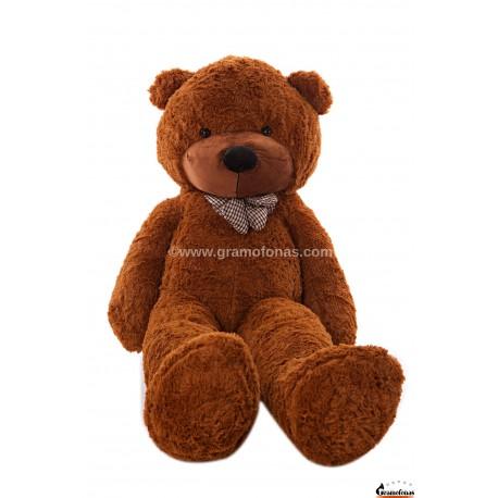 Tamsiai rudas meškinas 180 cm TEDDY / Dideli pliušiniai meškinai