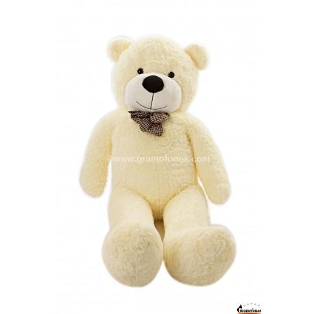 Baltas meškinas 160 cm TEDDY / Dideli pliušiniai meškinai
