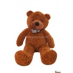 Tamsiai rudas meškinas 140 cm TEDDY / Dideli pliušiniai meškinai
