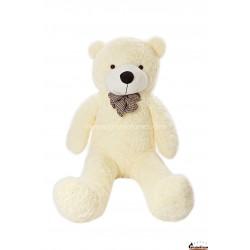 Baltas meškinas 140 cm TEDDY / Dideli pliušiniai meškinai