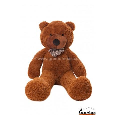 Tamsiai rudas meškinas 120 cm TEDDY / Dideli pliušiniai meškinai