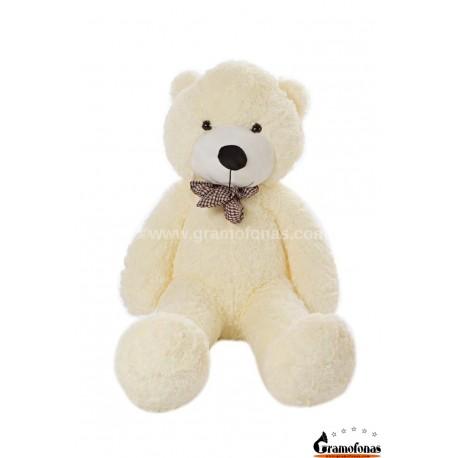 Baltas meškinas 120 cm TEDDY / Dideli pliušiniai meškinai