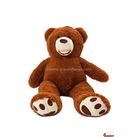 Tamsiai rudas meškinas 110 cm BARNEY / Dideli pliušiniai meškinai