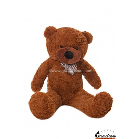 Tamsiai rudas meškinas 100 cm TEDDY / Dideli pliušiniai meškinai