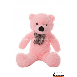 Rožinis meškinas 100 cm TEDDY / Dideli pliušiniai meškinai
