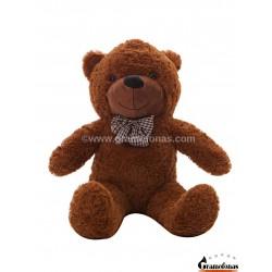 Tamsiai rudas meškinas 80 cm TEDDY / Dideli pliušiniai meškinai