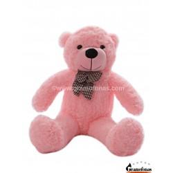Rožinis meškinas 80 cm TEDDY / Dideli pliušiniai meškinai