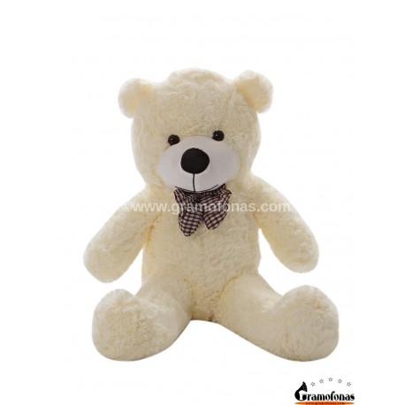 Baltas meškinas 80 cm TEDDY / Dideli pliušiniai meškinai