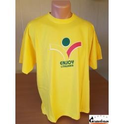 Marškinėliai Enjoy Lithuania (Geltoni)