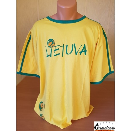 """Marškinėliai """"Lietuva su krepšinio kamuoliais"""" (Geltoni)"""