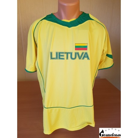 """Marškinėliai sportiniai  """"Lietuva"""" (Geltoni su žalia)"""