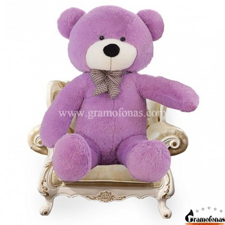 Violetinis meškinas 140 cm TEDDY