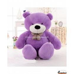 Violetinis meškinas 80 cm TEDDY