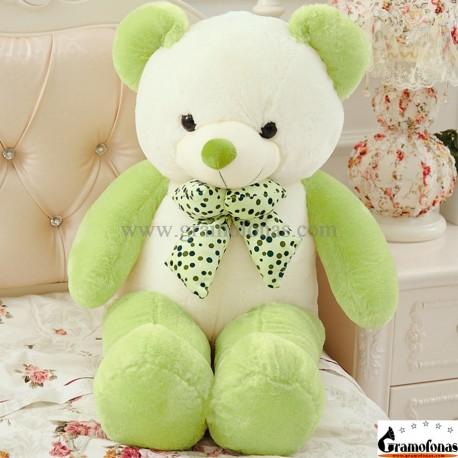 Baltas-žalias meškiukas 100 cm HAPPY