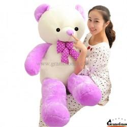 Baltas-violetinis meškinas 160 cm HAPPY