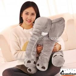 Pliušinis pilkas dramblys 60 cm