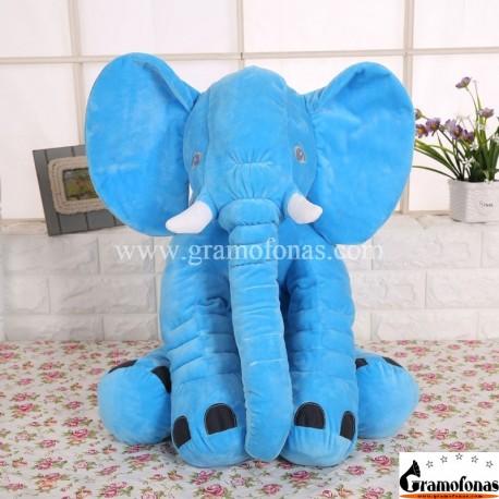 Pliušinis mėlynas drambliukas 40 cm