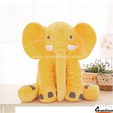 Pliušinis geltonas drambliukas 40 cm